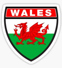 Wales Flag and Shield Sticker