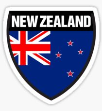 New Zealand Flag and Shield Sticker