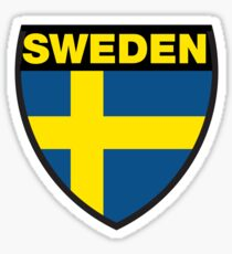 Sweden Flag and Shield Sticker
