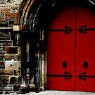 Red door in Scotland by gigigriffis