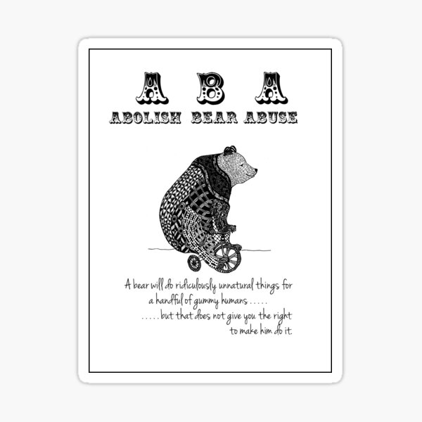 ABA - Circus Bear - Sticker Sticker