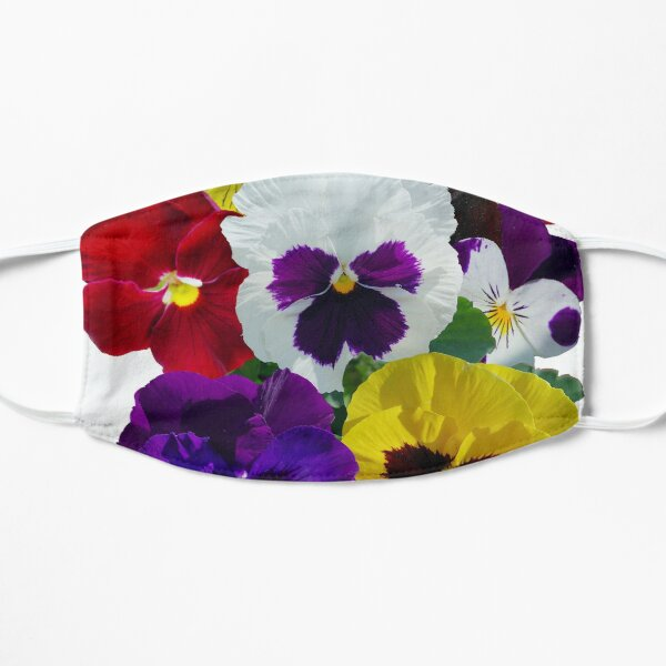 Pansies! Small Mask