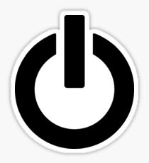 Power Button (black) Sticker