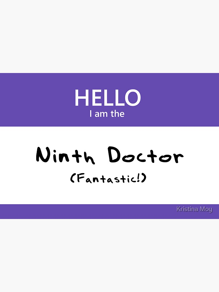Ninth Doctor Name Tag by blackoutart