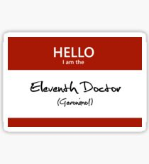 Eleventh Doctor Name Tag Sticker