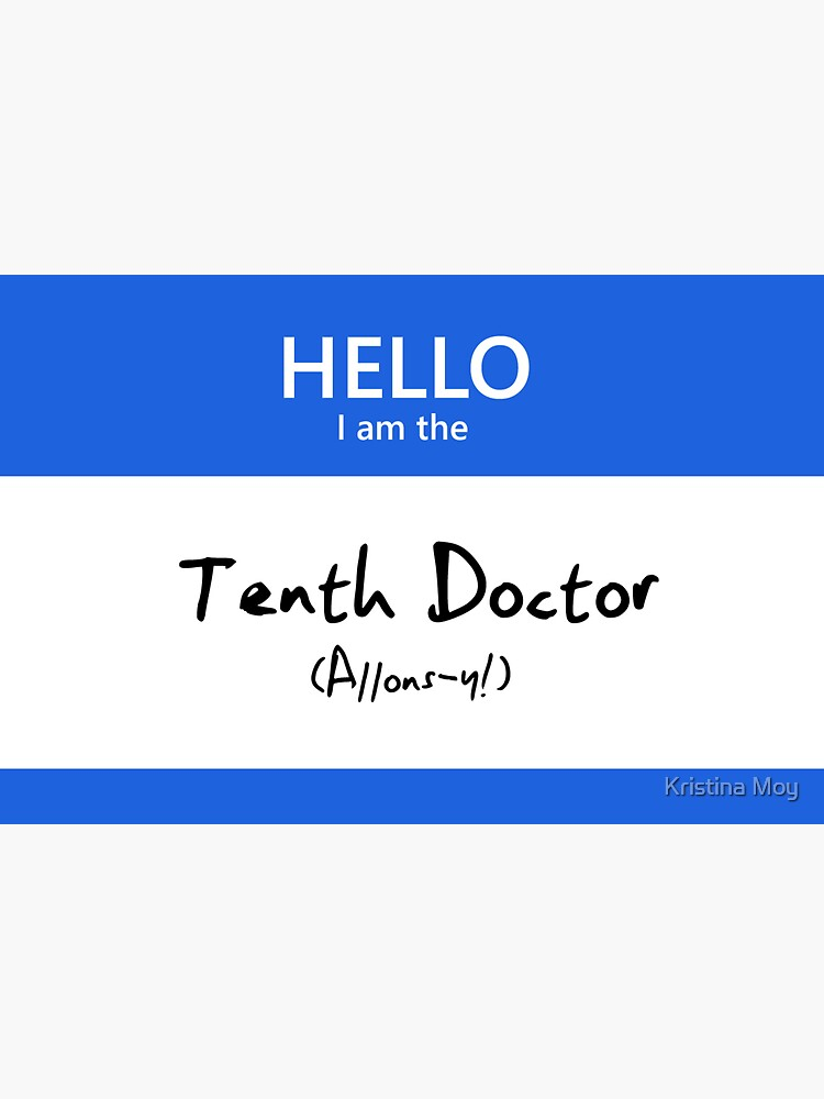Tenth Doctor Name Tag by blackoutart