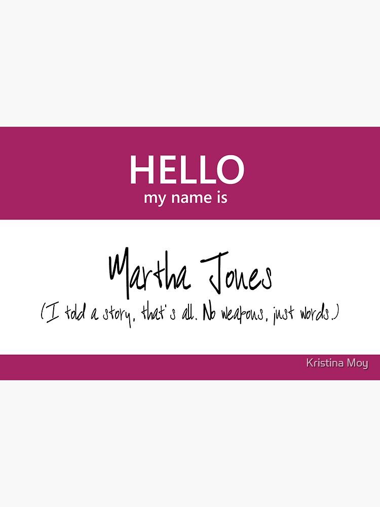 Martha Jones Name Tag by blackoutart