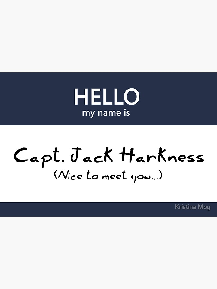 Captain Jack Harkness Name Tag by blackoutart