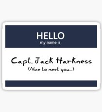 Captain Jack Harkness Name Tag Sticker