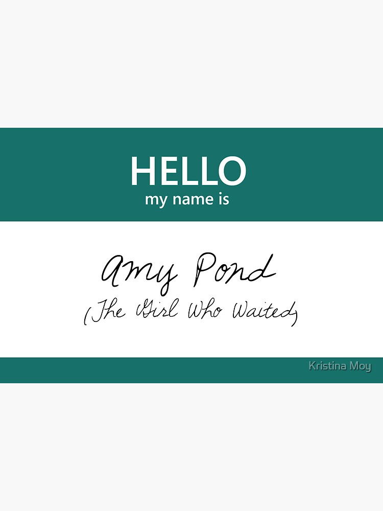 Amy Pond Name Tag by blackoutart