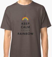 Keep Calm Rainbow on white Classic T-Shirt