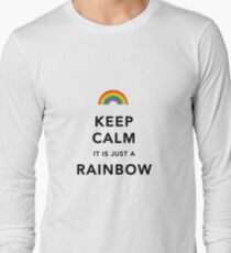 Keep Calm Rainbow on white T-Shirt