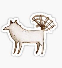 """""""I'm So Happy"""" - Dog Sticker"""