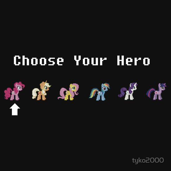 TShirtGifter presents: My Little Pony: Choose Your Hero!