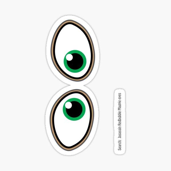 Magpie eyes boy green Sticker