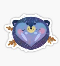 Sleepy Hedgehog Sticker