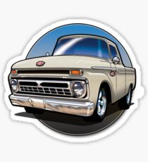 1966 Ford F100 Cartoon Sticker