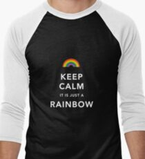 Keep Calm Is Just a Rainbow Men's Baseball ¾ T-Shirt