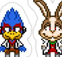 Star Fox Team Mini Pixels Sticker