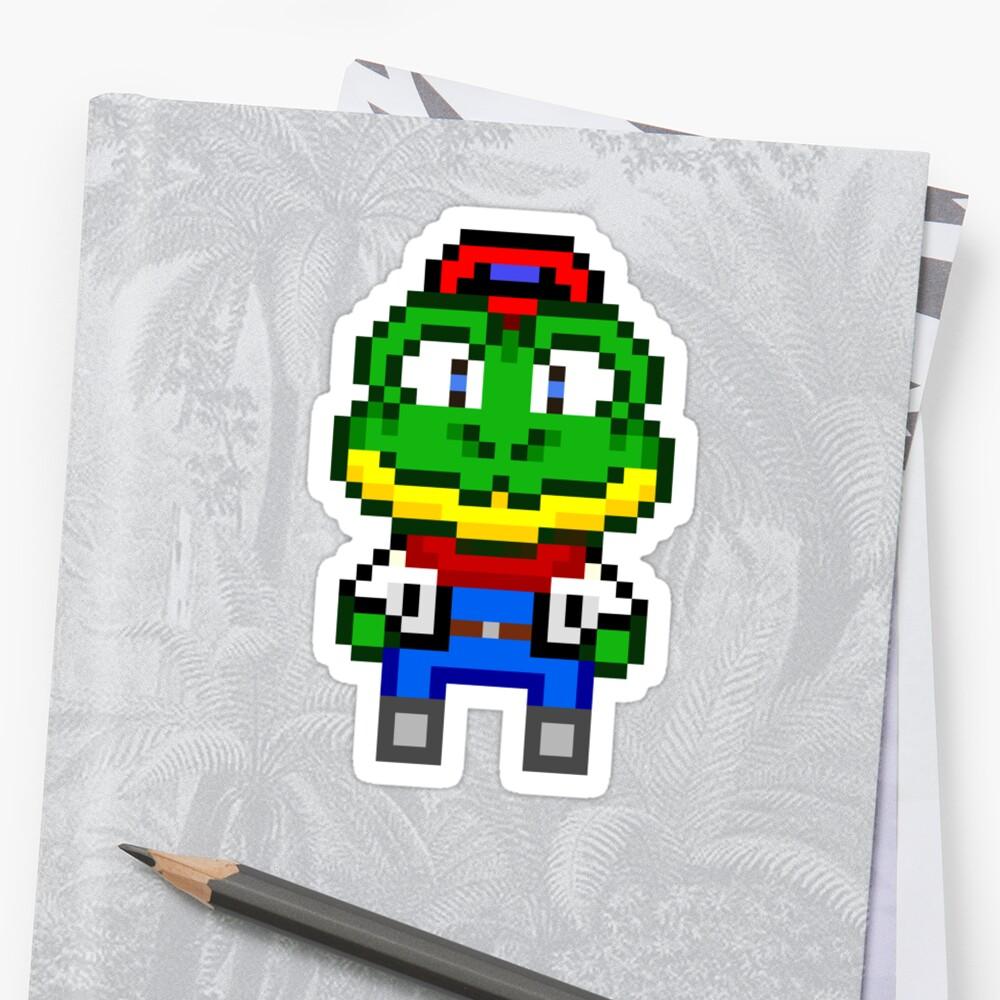 Slippy Toad - Star Fox Team Mini Pixel by geekmythology