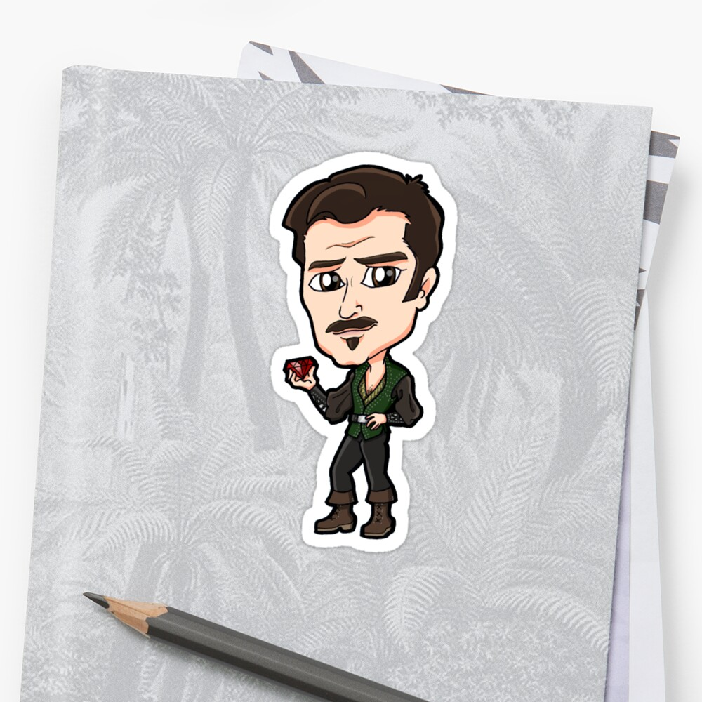 Xena Warrior Princess / Hercules - Autolycus The King of Thieves with Ruby Chibi Sticker by Zphal