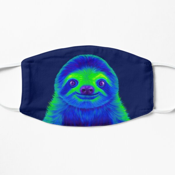 Blue and Green Sloth Mask