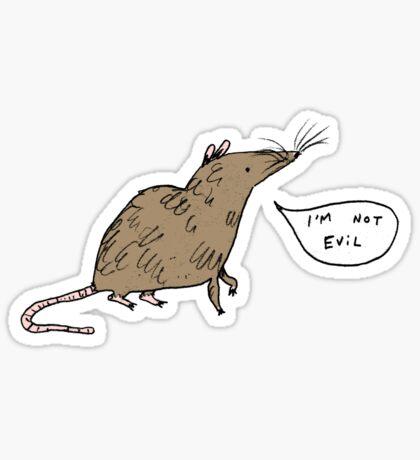 Rats Aren't Evil Sticker