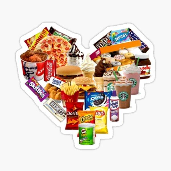 Junk Food Love Heart Sticker