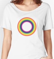 Circle Rainbow Women's Relaxed Fit T-Shirt