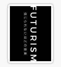 Futurism Asian Black - Vertical Sticker