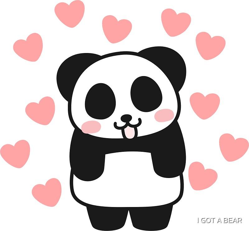 """When Panda falls in Love Sticker"" Stickers by I GOT A ..."