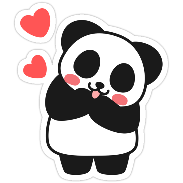 """Panda Cute Cute Sticker"" Stickers by I GOT A BEAR 