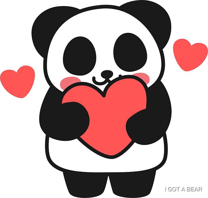 Oh panda got my heart sticker by i got a bear