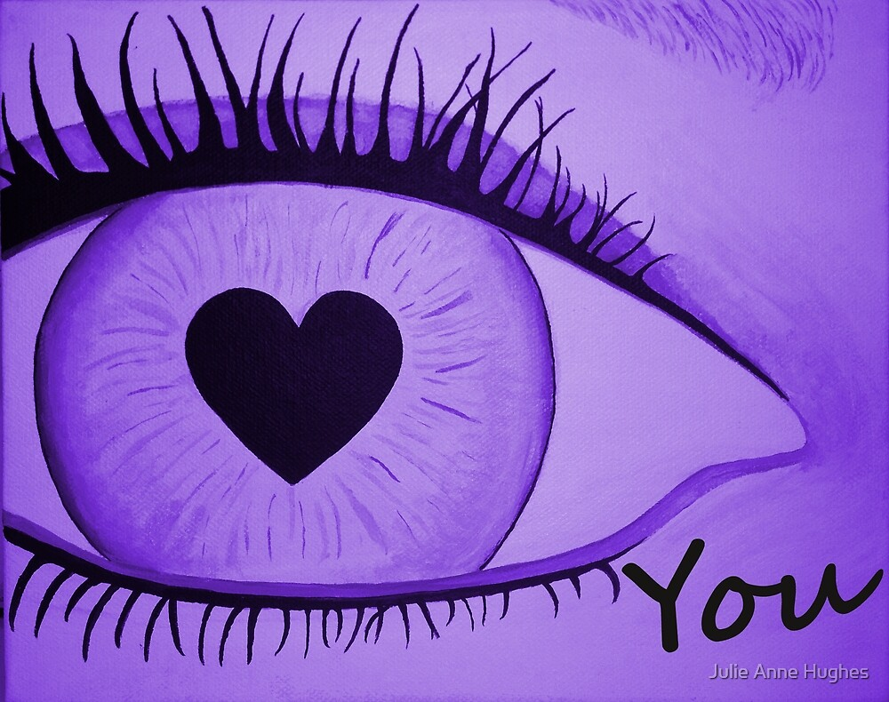 Eye Love You _ Lilac by Julie Anne Hughes