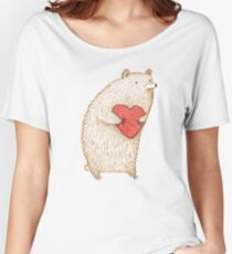 Bear with Heart Women's Relaxed Fit T-Shirt