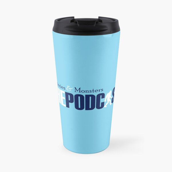 Mysteries and Monsters Blue & White Travel Mug