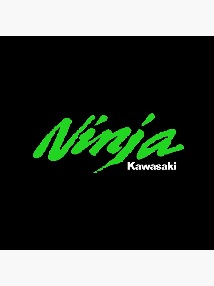 kawasaki ninja green and white logo fan art tote bag by burningrabbit redbubble https www redbubble com i tote bag kawasaki ninja green and white logo fan art by burningrabbit 48033899 pjqvx