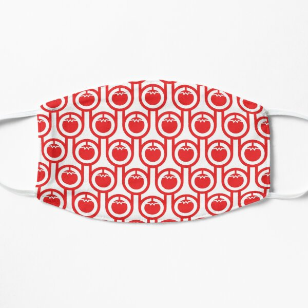 Scandi Midcentury Modern Retro Geometric Tomatoes Pattern Small Mask