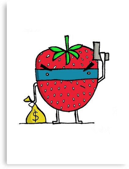 Stick Em Up...This Is A Strawberry by Stewart Cuthbert