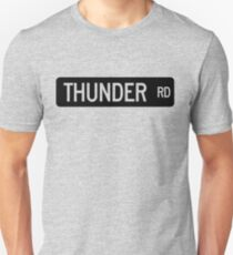 Camiseta ajustada Señal de calle de Thunder Road