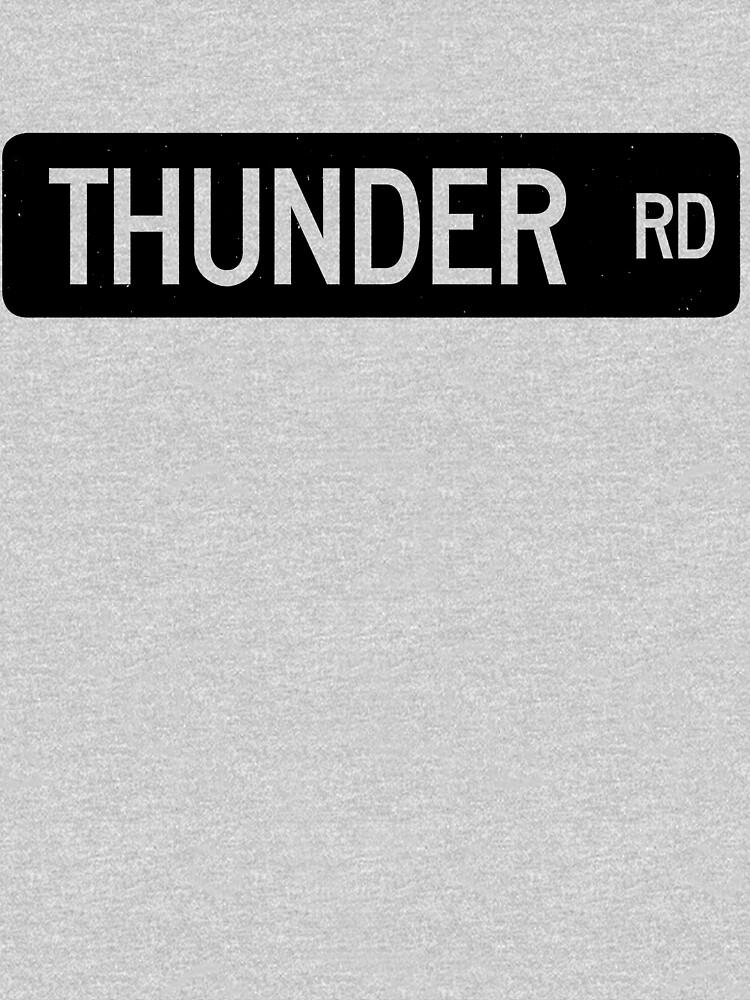 Señal de calle de Thunder Road de dissident