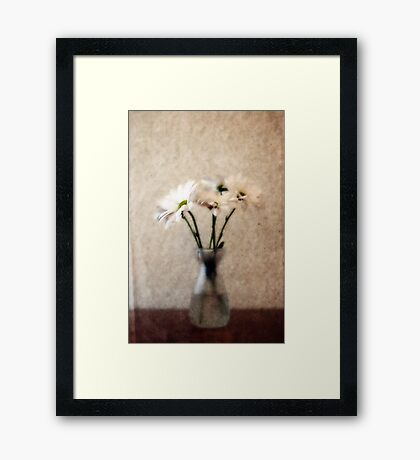 Small Vase of Daisies Framed Print