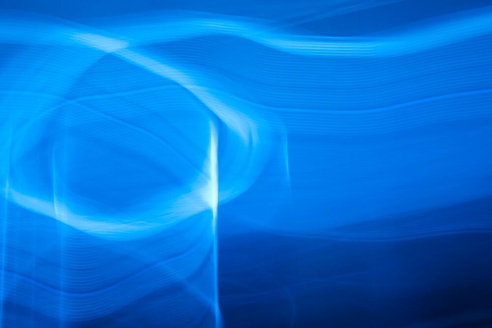 Blue Abstract 2 by Mark Everett Weaver