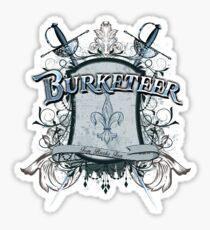 Official Burketeer Logo Badge Blue Sticker