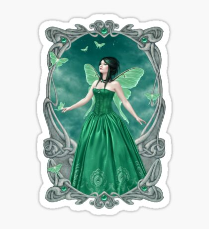 Emerald Birthstone Fairy Sticker