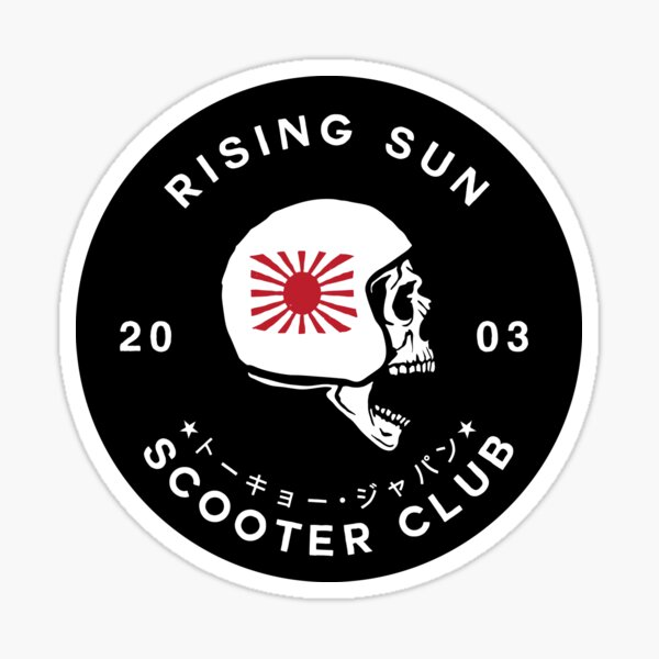 Rising Sun Scooter Club Tokyo [Sticker Version] Sticker