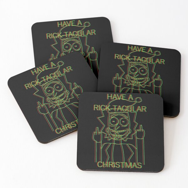 Have A Rick-Tacular Christmas Coasters (Set of 4)