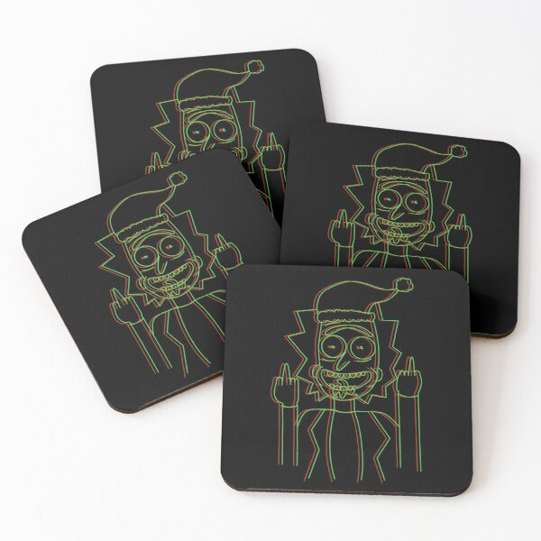 Rick Christmas Coasters (Set of 4)