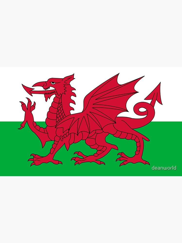 Wales National Flag - Welsh Fan Sticker T-Shirt Bedspread by deanworld
