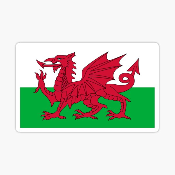 Wales National Flag - Welsh Fan Sticker T-Shirt Bedspread Sticker